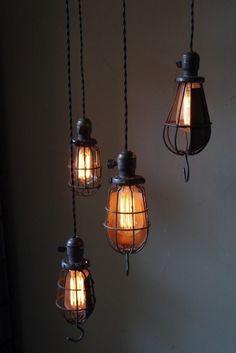 Acier luminaire Edison - pendentif lampe - plafonnier - suspension ...