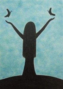 Spiritual Card, Girl Silhouette Art Card, Graduation, Girl Well Done Card, Hope Art Gallery Uk, Online Art Gallery, Art Paintings For Sale, Modern Art Paintings, Well Done Card, Fathers Day Art, Spiritual Pictures, Sisters Art, Seascape Art