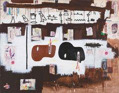 Basquiat - Dark Milk - 1986 - © Estate of Jean-Michel Basquiat. Licensed by Artestar, New York Jean Michel Basquiat, Basquiat Paintings, Guggenheim Bilbao, Brooklyn, Neo Expressionism, Tape Art, Keith Haring, Unique Art, Yorkie