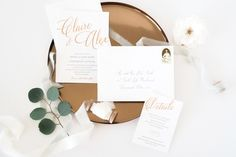 This listing is for a SAMPLE LETTERPRESS/FOIL pack including: the invitation and response card with envelopes in the design and colors shown in the photos, color swatch card, paper samples and pricing information.  All pieces are priced individually, so that you can create the