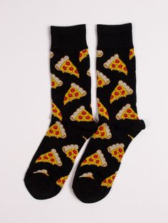 Pizza Socks by Socksmith - ShopKitson.com Silly Socks, Funky Socks, Crazy Socks, Cute Socks, Happy Socks, My Socks, Awesome Socks, Pizza Socks, Unique Socks