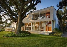 Barrier Island House is a project designed by Sanders Pace Architecture and completed in 2012. The residence is located in a modest 1950′s neighborhood, in Vero Beach, Florida,