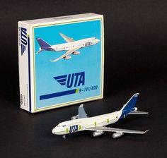 Schabak 1:600 Diecast Boeing 747-400 UTA