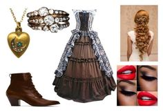 """""""victorian #5"""" by sarahmullen-yugioh ❤ liked on Polyvore featuring Frye"""