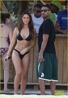 January 24, 2014:  Michael B. Jordan: Shirtless Beach Stroll with Mystery Girl!