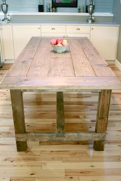 Build a stylish kitchen table with these free farmhouse table plans. They come in a variety of styles and sizes so you can build the perfect one for you. Farmhouse dining room table and Farm table plans. Build A Farmhouse Table, Rustic Farmhouse, Farmhouse Furniture, Anna White Farmhouse Table, Ana White Farm Table, Kitchen Rustic, Farmhouse Plans, French Farmhouse, Dyi Kitchen Table