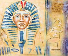 """Textured Online Art Buy Painting Reproduction Abstract Oil Paintings Pharaoh Portrait, Size: 24"""" x 20"""", $79. Url: http://www.oilpaintingshops.com/textured-online-art-buy-painting-reproduction-abstract-oil-paintings-pharaoh-portrait-0498.html"""