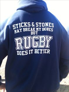 sticks and stones may break my bones but rugby does it betters English Rugby, Welsh Rugby, Rugby League, Rugby Players, Rugby Rules, Rugby Workout, Rugby Funny, Rugby Gear, Rugby Girls