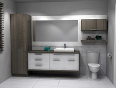 Shelving Ideas and Options for Adding Bathroom Shelving Bathroom Cabinets, Bathroom Furniture, Bathroom Storage, Bathroom Layout, Bathroom Interior, Modern Bathroom, Small Bathroom, Bathroom Remodel Cost, New Toilet