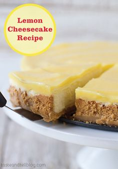 Creamy and rich, this Lemon Cheesecake has a cookie crust and is topped with a tart lemon curd. Serve up this easy dessert at your next family party.