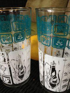 Pyroglazed vintage drinking glasses <3 $18