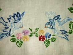 Bluebird embroidery