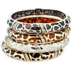 Elegant resin bracelets with Swarovski crystal accents by Andrew Hamilton Crawford.