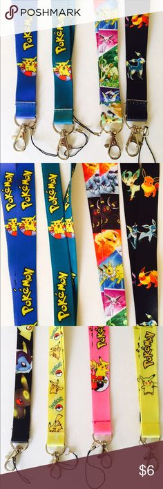 Pokemon Lanyard New Pokemon lanyards available! Use them for your keys, badge, or whatever you want! Perfect for your Pokemon Go adventures! All lanyards pictured available! Price is for one lanyard. No trades! If interested, please use the offer button! Thank you! Kawaii Accessories Key & Card Holders