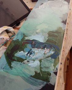 One of my male portrait painting at its early stages. Exploring greens and blues. Painting Process, Exploring, Blues, Portrait, Art, Idea Paint, Art Background, Headshot Photography, Kunst