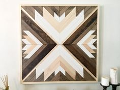 Reclaimed wood wall art, wooden wall decor, wood art, modern wall decor, geometric wall art, rustic wall decor, farmhouse decor by NorthernOaksDecorCo on Etsy https://www.etsy.com/listing/488251331/reclaimed-wood-wall-art-wooden-wall