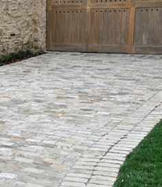 Image detail for -Decorative Brick Driveway and rock wall