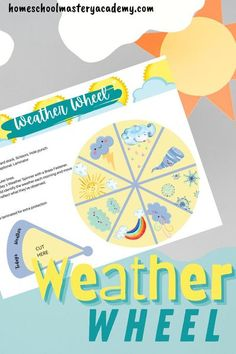 Weather Wheel Activity - perfect addition to learning all about the weather. #weather #weatherwheel #homeschool #homeschoolscience Homeschool Curriculum Reviews, Homeschool High School, Homeschool Kindergarten, Homeschooling, Tot School, Weather Activities For Kids, Weather Science, Science For Kids, Earth Science