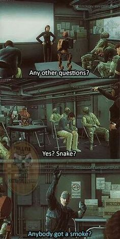 Yes Snake? // I think cigars are so much more cooloer, that's why I like Big Boss better than Solid Snake // MGS4