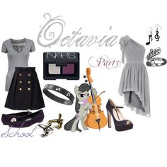 """Octavia (My Little Pony: Friendship is Magic)"" inspired elegant outfit by colorsgalore on Polyvore"