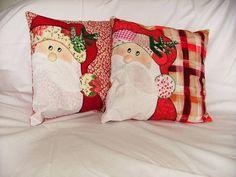Capas Para Almofadas Aplique Papai Noel 21