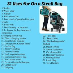 31 Uses for On A Stroll Bag. I was thrilled to see the strap can create snap together to create a shoulder strap as well. *I use mine in my bathroom closet to hold toilet paper and some beauty products*