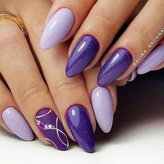 35 Simple Ideas for Wedding Nails Design - Wedding Nails - Nageldesign Cute Nails, Pretty Nails, My Nails, Neon Nails, Easy Nail Art, Cool Nail Art, Uñas Color Cafe, Purple Nail Art, Yellow Nails