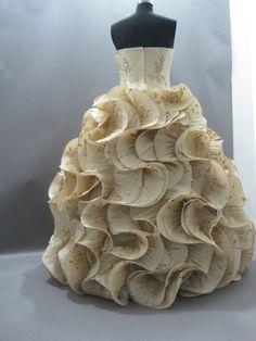Handmade unique wedding dress