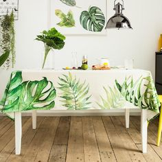 Tropical Palm Leaf Indoor / Outdoor Tablecloth