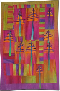 Frieda Anderson (quilt artist and teacher) Art Quilt ♥•♥•♥