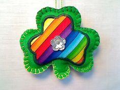 Felt Green Shamrock St Patricks Day Decor Holidays by byEmilie11