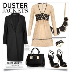 """pretty: Duster Jacket"" by ambacasa ❤ liked on Polyvore featuring Charlotte Russe, Burberry, Boohoo, River Island and Thalia Sodi"