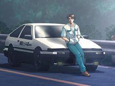 Takumi and the famous Fujiwara Tofu Shop AE-86 (Initial D)