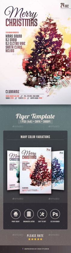 Merry #Christmas #Flyer - Clubs & Parties Events