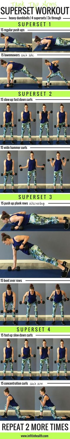 Get those arms ready for summer! Tank Top Arms Superset Workout