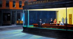Edward Hopper - Nighthawks, 1942 at Institute of Art Chicago IL