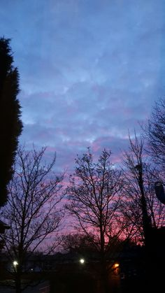 Pink and Blue evening #sky