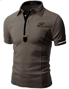 Doublju Mens Fashionable Casual Regular Fit Plus Size Short Sleeve Polo T-shirt MOCHA,XL Go to the website to read more description. Stylish Shirts, Casual Shirts, Casual Outfits, Men Casual, Mens Polo T Shirts, Golf Shirts, Polo Shirt Design, Camisa Polo, Mens Clothing Styles