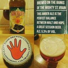 Sawtooth Ale from LeftHand Brewery #Beer #americanbeer #usa #sawtooth  #lefthandbrewing #ale #bier #öl