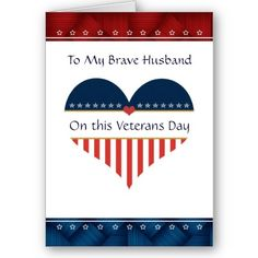 56 best veterans day card images on pinterest in 2018 craft cards patriotic heart husband veterans day card m4hsunfo