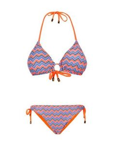Gemelli Dolly Mix Plunge Bikini with Reversible Loop Bottoms Tangerine