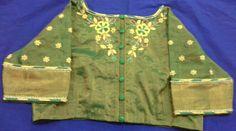 Uppada pattu blouse with maggam work 91 9866583602 whatsapp no 7702919644