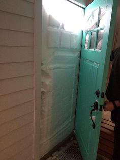 24 Pictures That Perfectly Capture How Insane The Snow In New England Is :  Plum Island front door