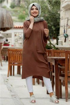 How to wear long tunic with hijab – Just Trendy Girls