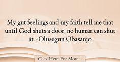 Olusegun Obasanjo Quotes About God - 28592