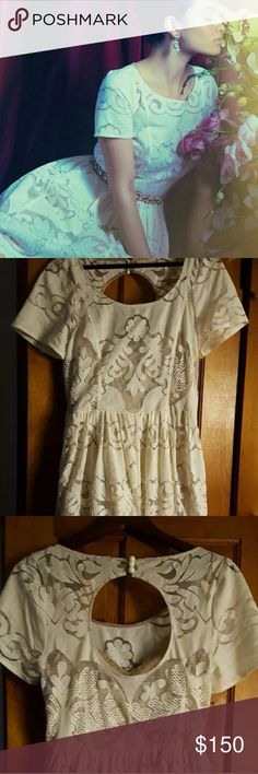 NWT Anthropologie lace dress Tracy Reese plenty dress with cut out and buttons on back Anthropologie Dresses Mini