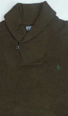 Ralph Lauren Polo Men's Shawl Kneck Collar Wool Sweater Sweatshirt Sz Large Pony | eBay