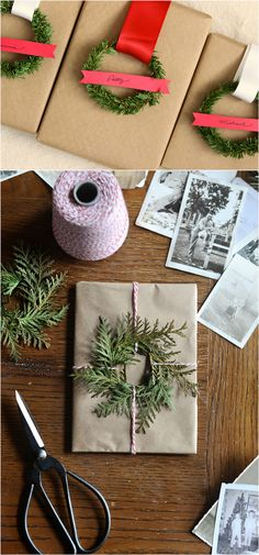 16 inspiring gift wrapping hacks on how to make instant gift bags and beautiful gift wraps in minutes, using re-purposed materials for almost free! - A Piece Of Rainbow Noel Christmas, All Things Christmas, Christmas Ornaments, Christmas Ideas, Wedding Gift Wrapping, Christmas Gift Wrapping, Wedding Gifts, Easy Gifts, Homemade Gifts