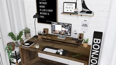 • Lackshore Desk • Jeanneret Chair • Dell U2414H with desktop riser • Apple Watch Series 3 • Audio Engine A2 • Eames House Bird on Books • Poster • IKEA Satsumas Plant Stand Download: [M] Sorry for...