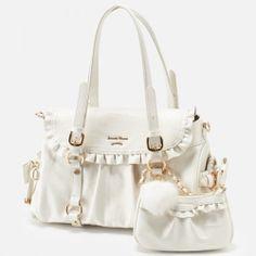Samantha Thavasa Flora Staff Collab Christmas Limited Ed Bag Off White Sweet Bags